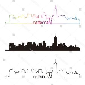 300x300 Stock Illustration Brooklyn Bridge Manhattan Skyline Landmark Hand