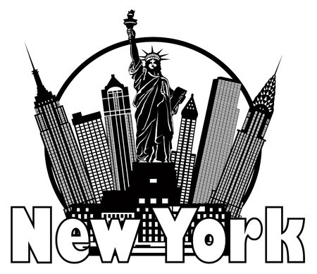 450x389 Vector Of New York City Skyline