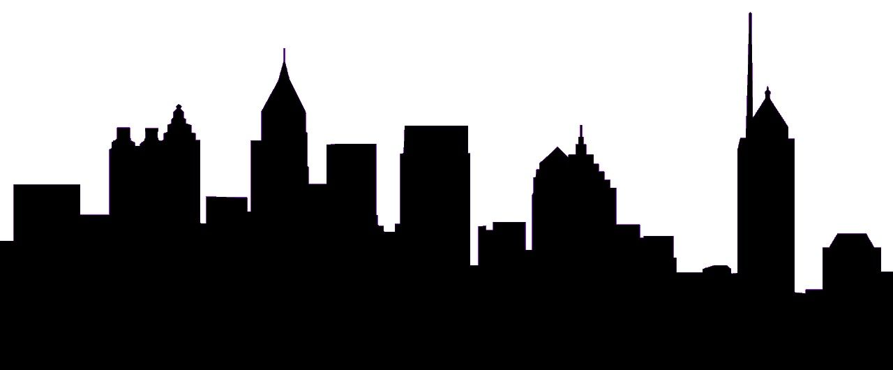 1280x530 Atlanta Skyline Silhouette