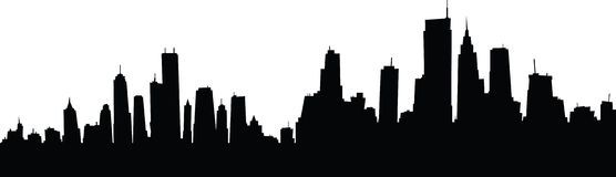 556x160 New York Skyline Drawing Outline