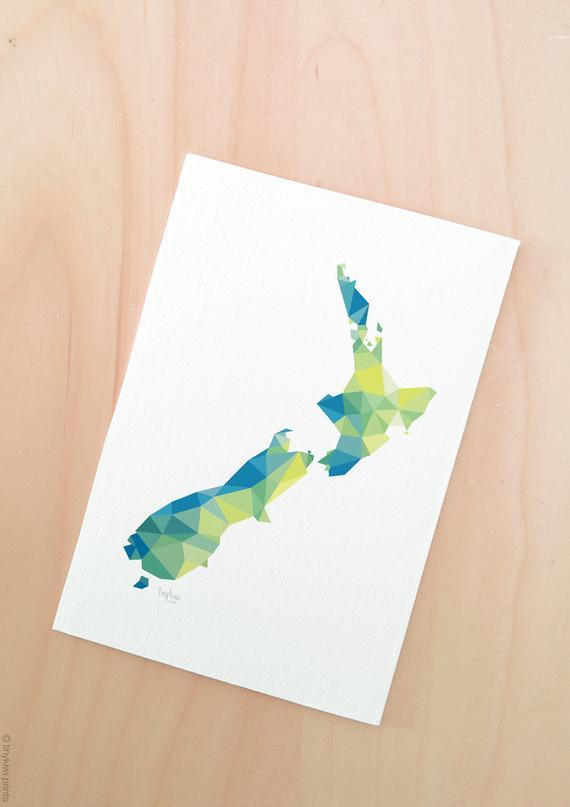 570x807 new zealand map kiwi map aotearoa map new zealand poster etsy