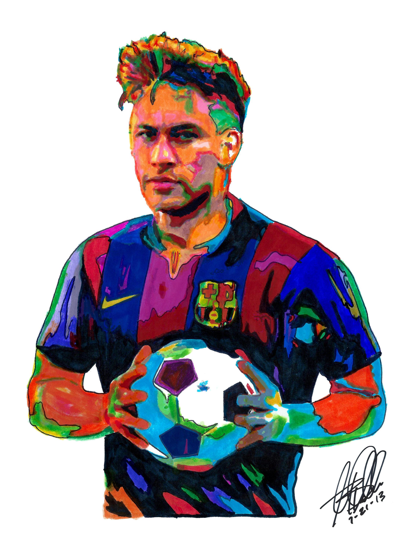 2250x3000 neymar jr soccer forward brazil sports footballer etsy