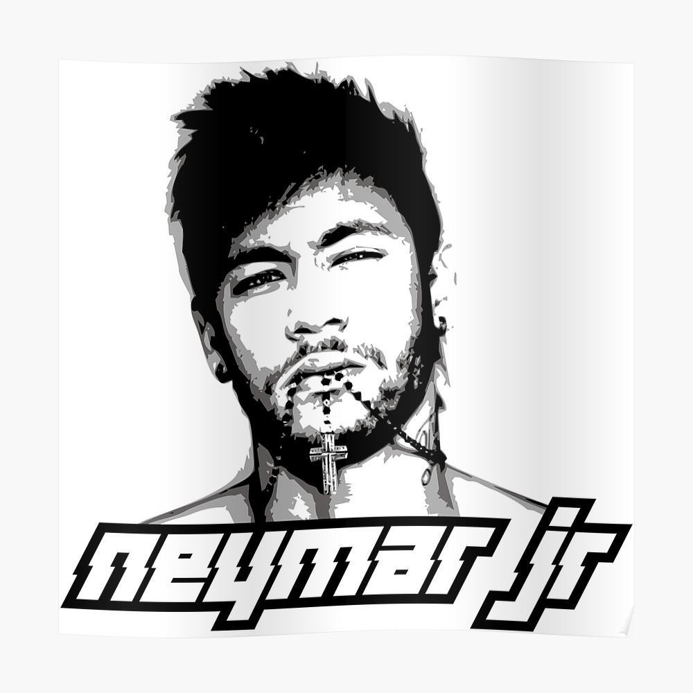 1000x1000 neymar jr photographic print