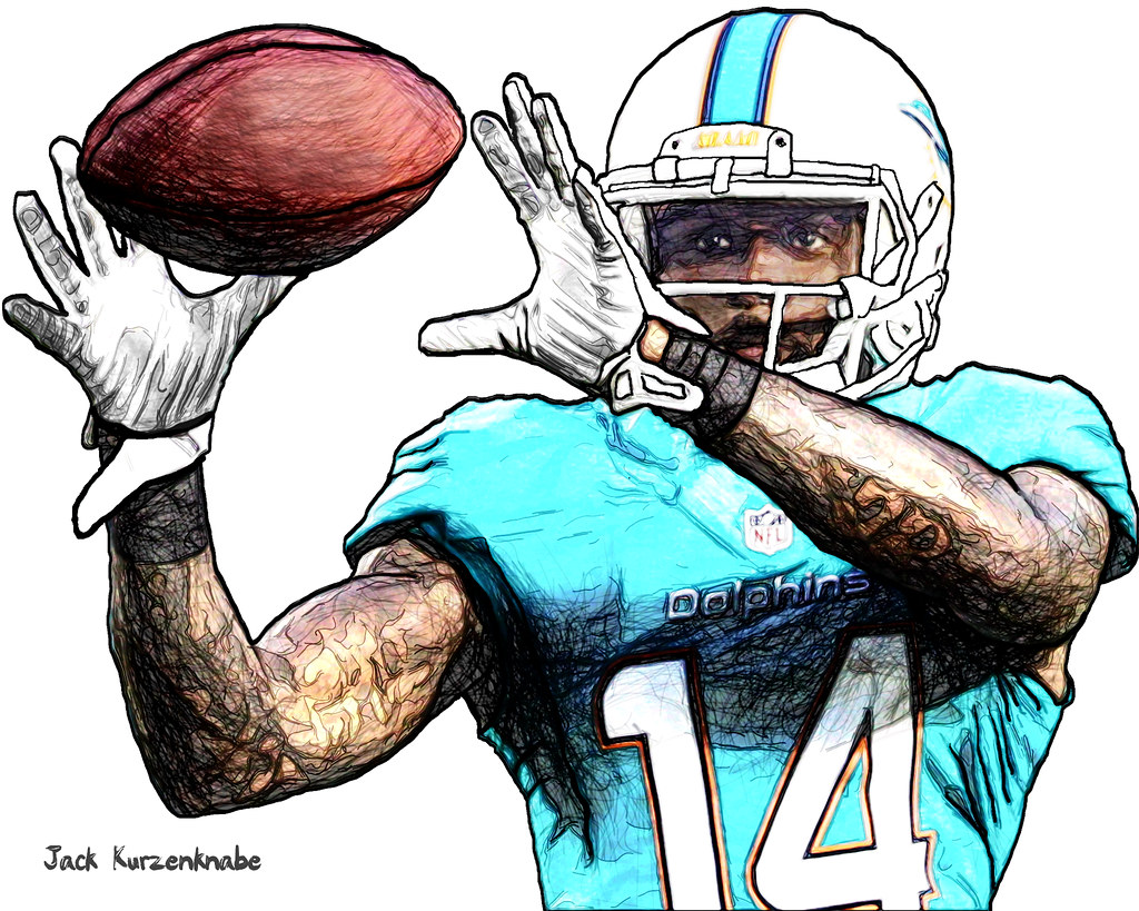 1024x819 Miami Dolphins Javis Landry View All My Nfl Drawings