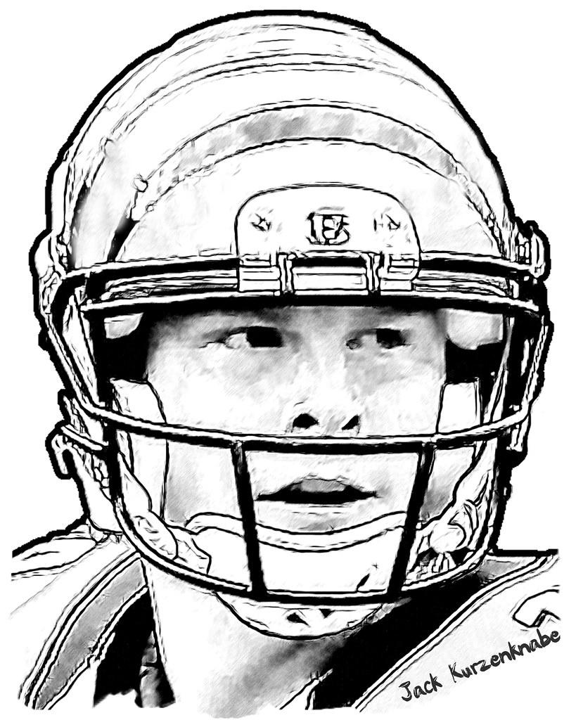 819x1024 Cincinnati Bengals Andy Dalton View All My Nfl Drawings