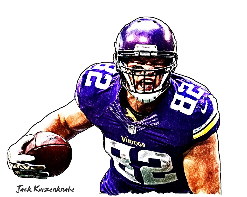 1024x819 Minnesota Vikings Kyle Rudolph View All My Nfl Drawings