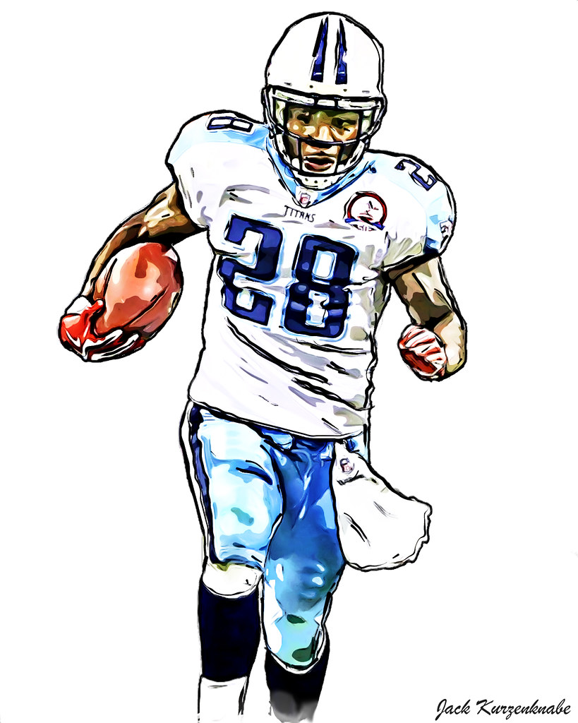 819x1024 Tennessee Titans Chris Johnson View All My Nfl Drawings
