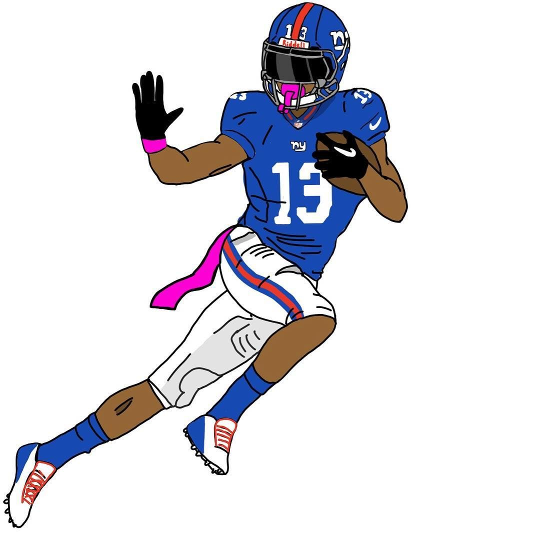 1080x1080 Nfl Official New York Giants Odell Beckham Jr, Football Player