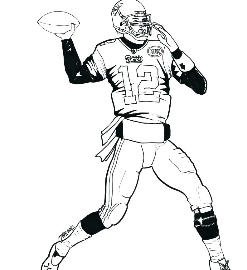 792x864 Football Coloring