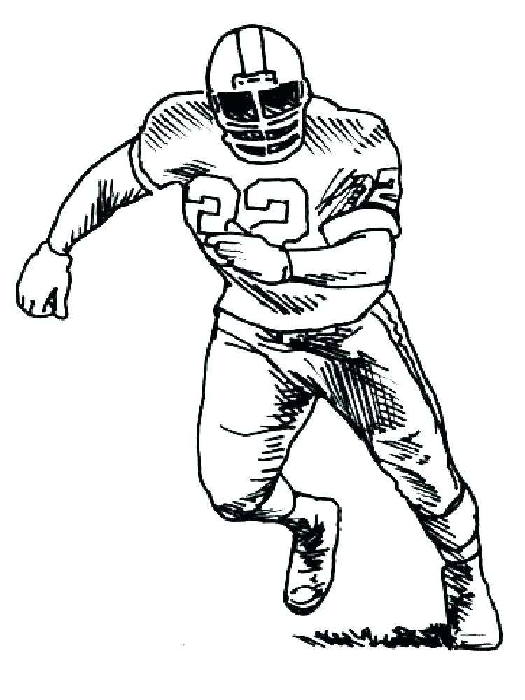 750x1000 Nfl Football Printable Coloring Pages