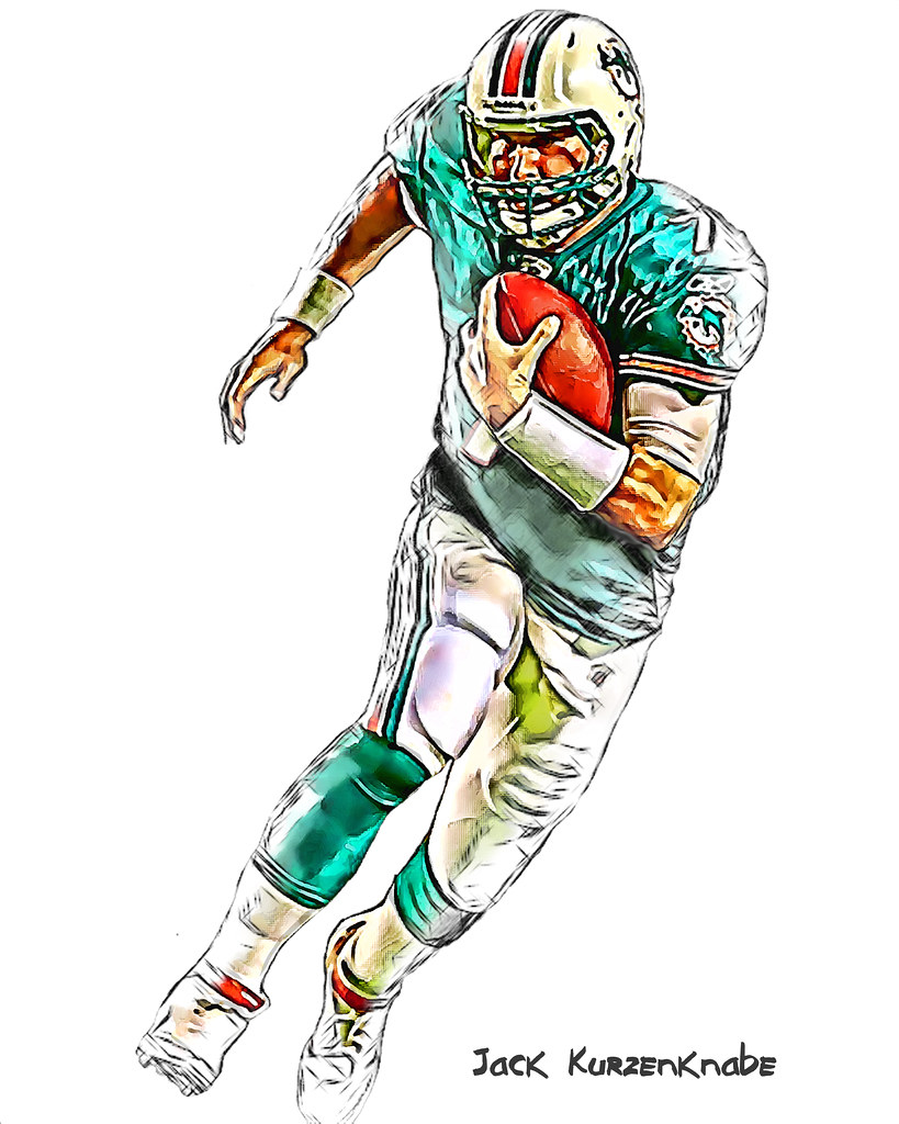 Nfl Football Player Drawing