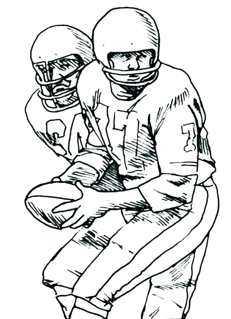 743x1024 Nfl Football Player Coloring Pages Photo Album