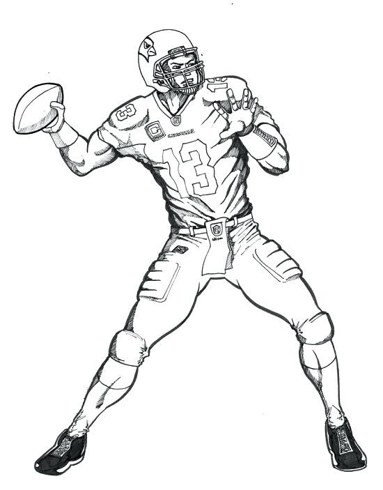 550x703 Nfl Players Coloring Pages Football Drawing