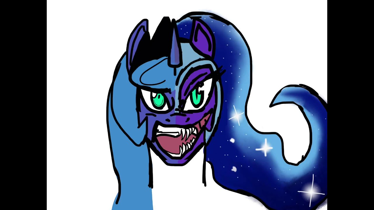 1280x720 Speed Drawing Of Nightmare Moonprincess Luna
