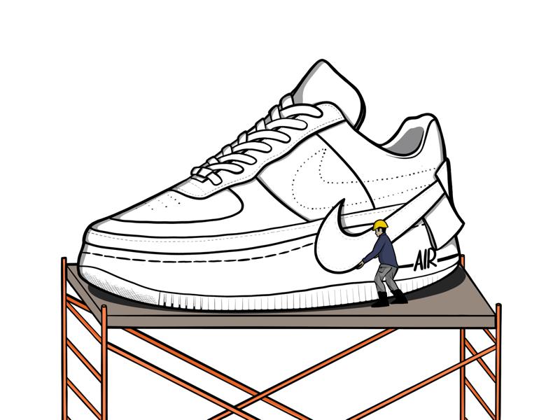 Nike Air Force 1 Clipart