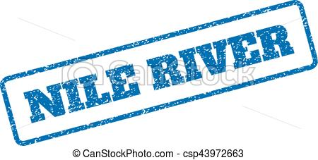 450x227 nile river rubber st blue rubber seal stamp with nile river