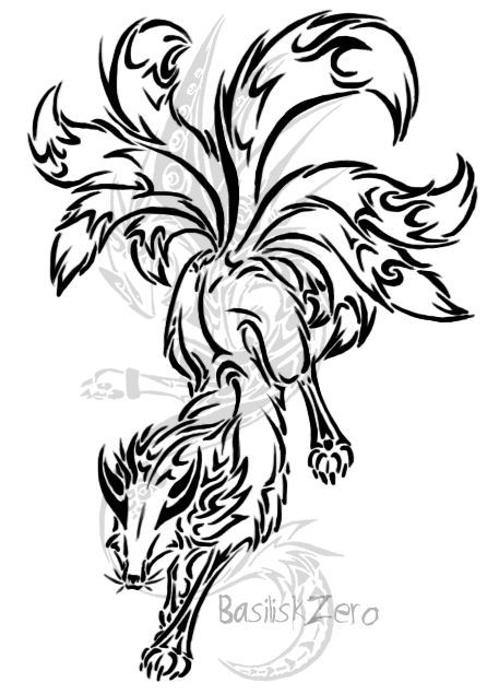 457x635 Naruto Tailed Beasts Tattoos Tribal Ideas And Designs