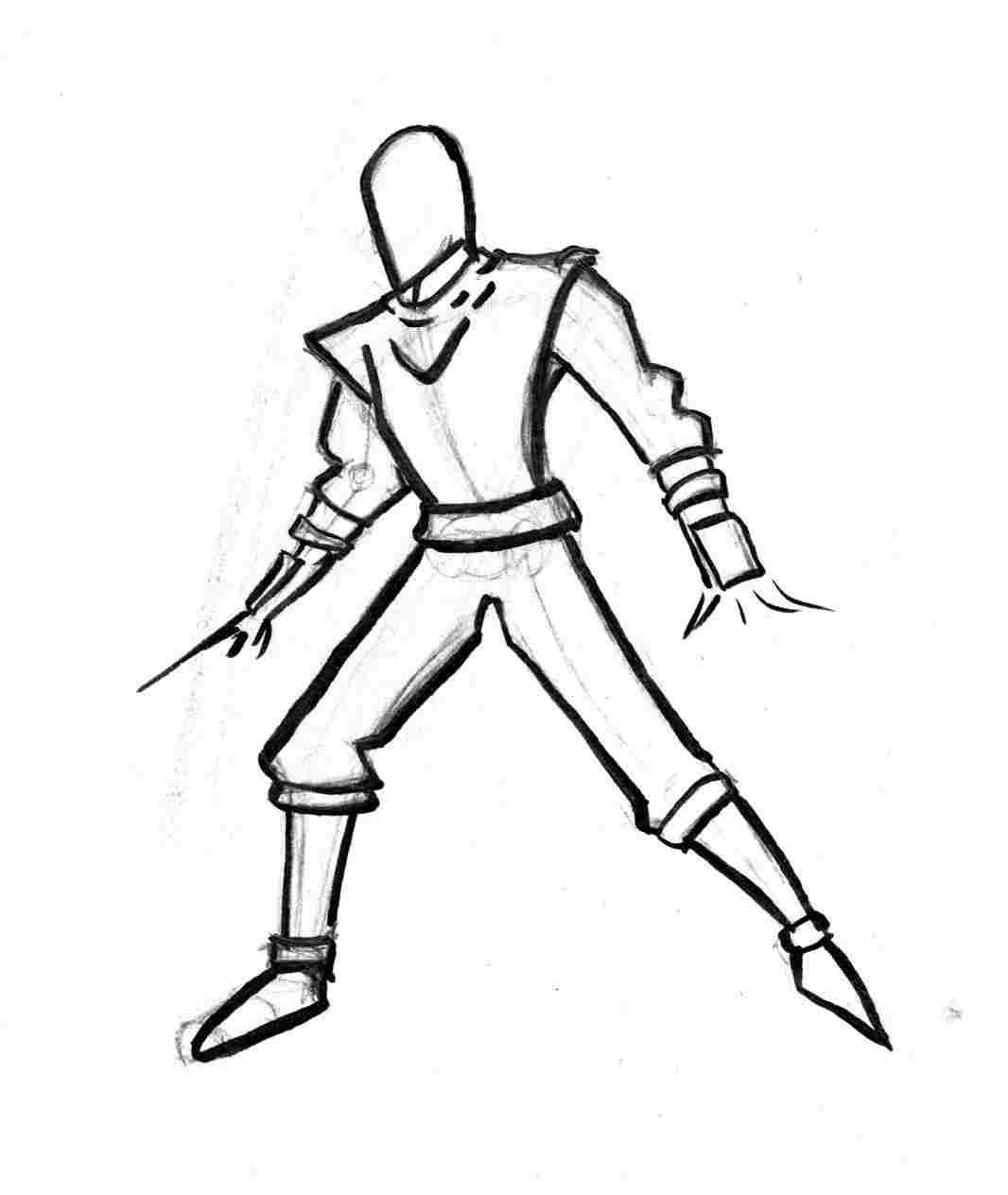 1066x1264 easy ninja assassin ninja drawing