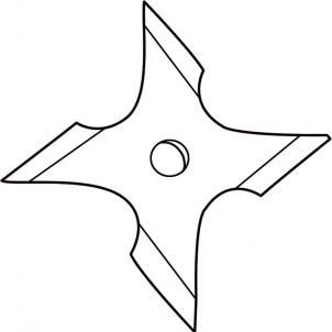 302x302 how to draw a ninja star step ninja ninja star, shuriken, ninja