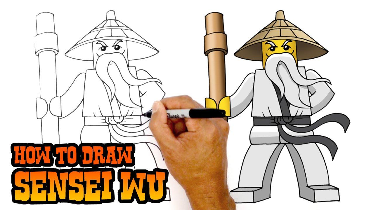 1280x720 How To Draw Ninjago Sensei Wu