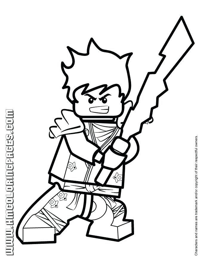 670x867 Lego Ninja Coloring
