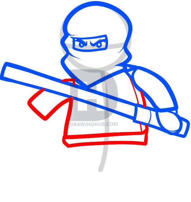 626x665 How To Draw Cole, Ninjago, Step