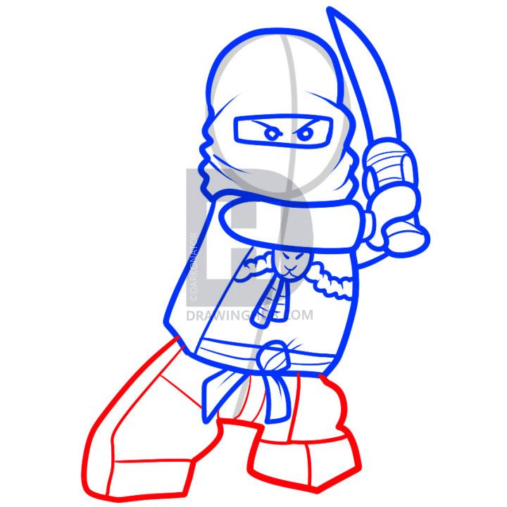 720x720 How To Draw K Kai Ninjago, Step