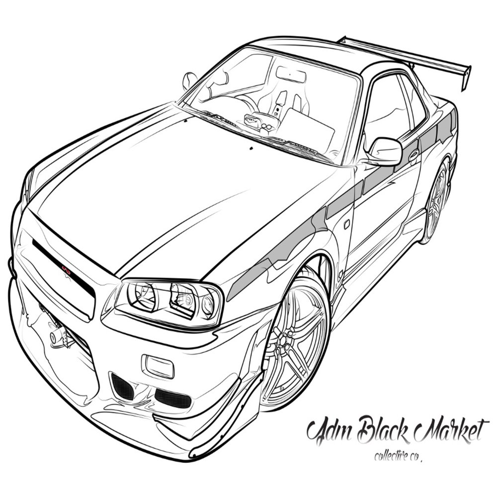 Nissan Skyline Drawing Free Download Best Nissan Skyline