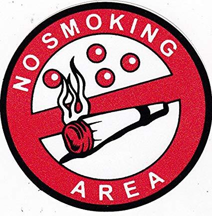 425x433 glitter sticker no smoking area warning alert logo sign