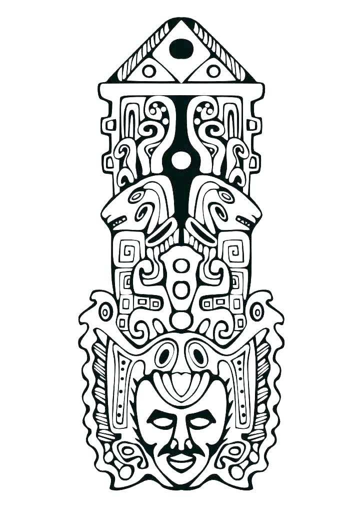 684x1024 totem pole printables totem pole coloring pages totem pole north