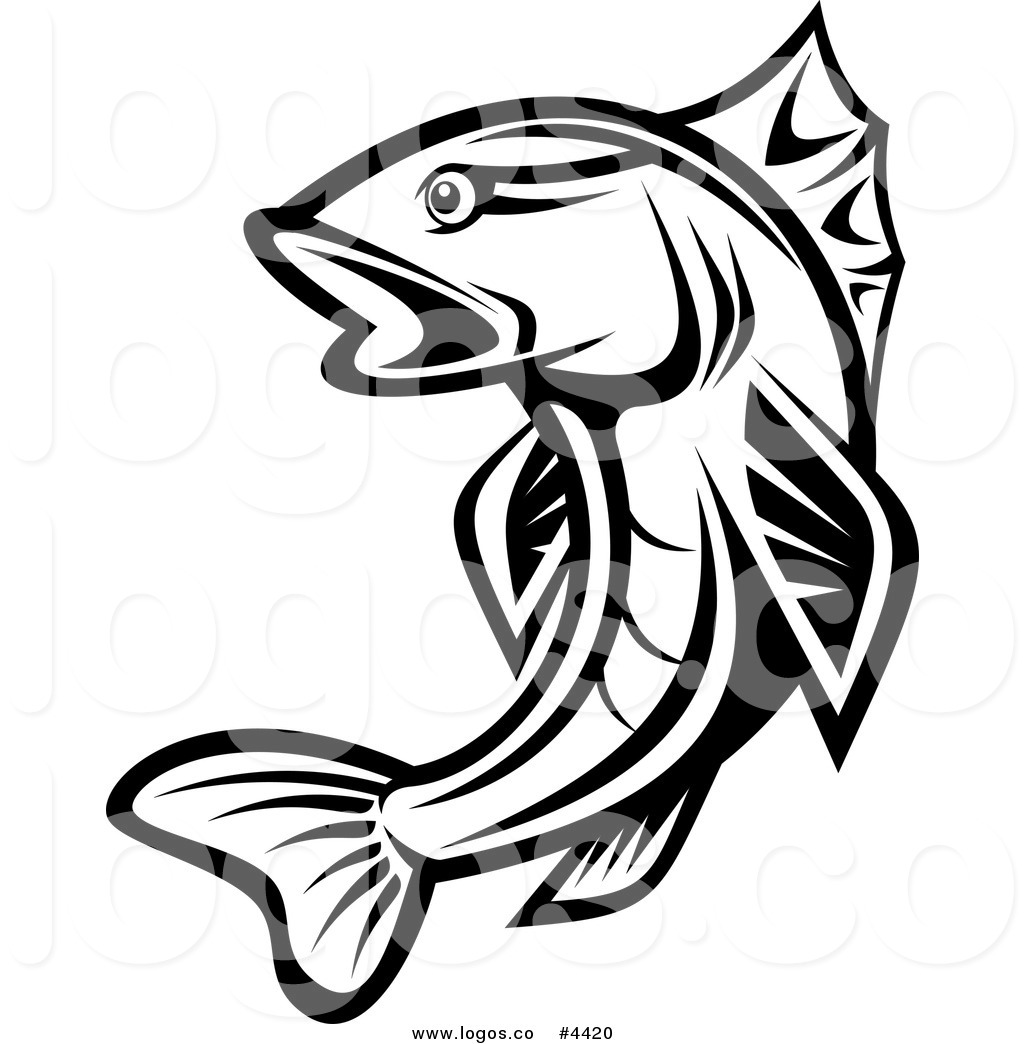 1024x1044 Royalty Free Trout Logo