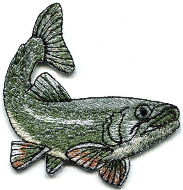 616x640 Bass Fish Fishing Embroidered Applique Iron On Patch S Ebay