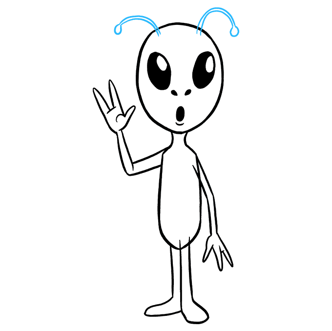 680x678 How To Draw An Alien