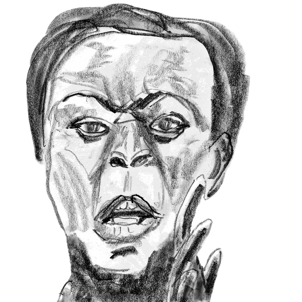1024x1024 Myriam Soumare, French Sprinter Pencil Sketch