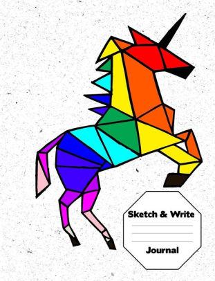 311x406 unicorn sketch draw and write journal writing diary journal