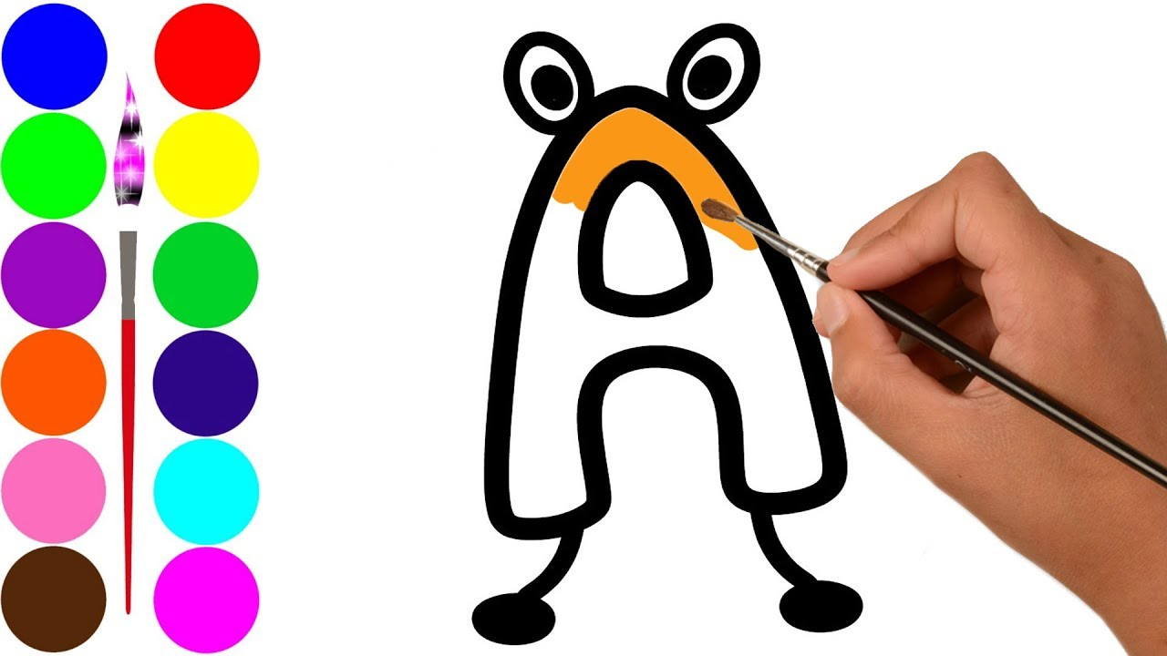 1280x720 how to draw abc and numbers learn abc song for kids