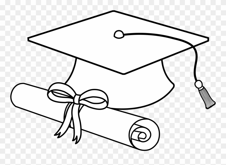 880x644 Flying Graduation Caps Clip Art Cap Line