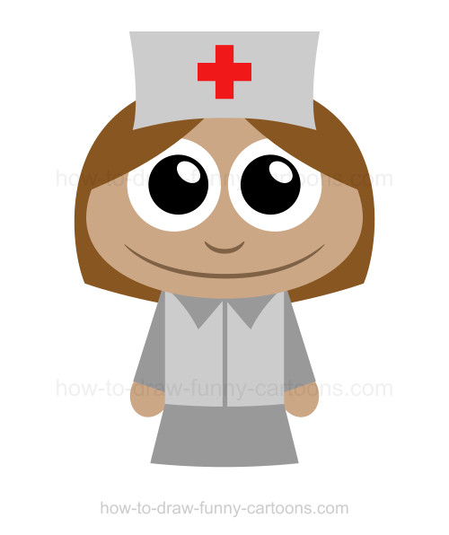 500x596 How To Draw A Nurse