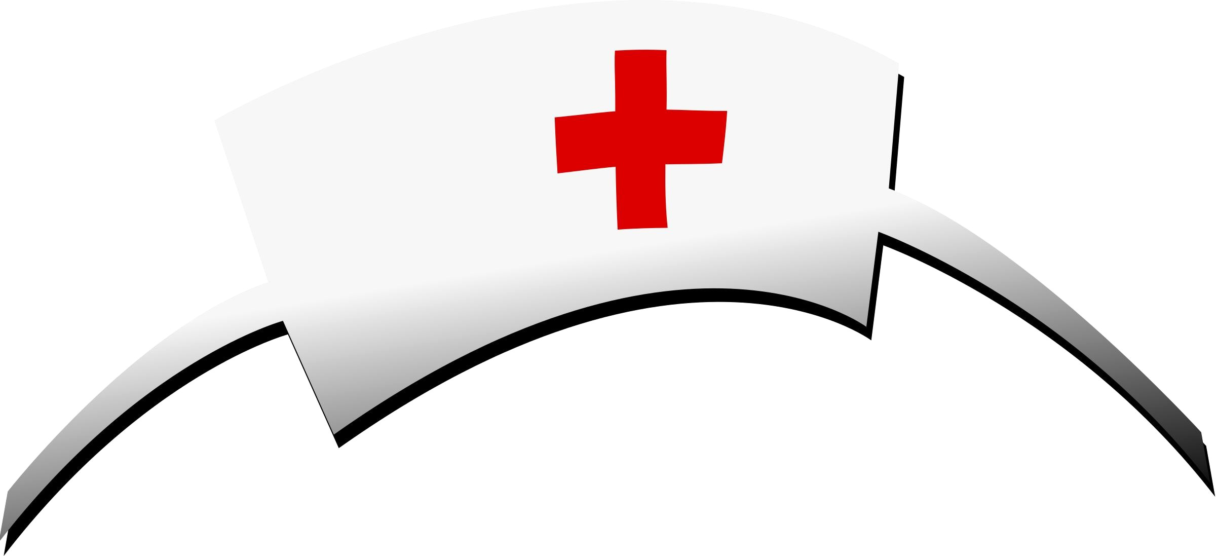 2400x1097 Nurses Hat Clipart Cartoon Nurse