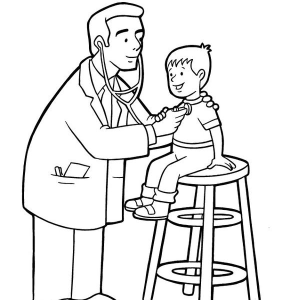 564x600 doctor nurse coloring pages doctor coloring sheets doctor coloring