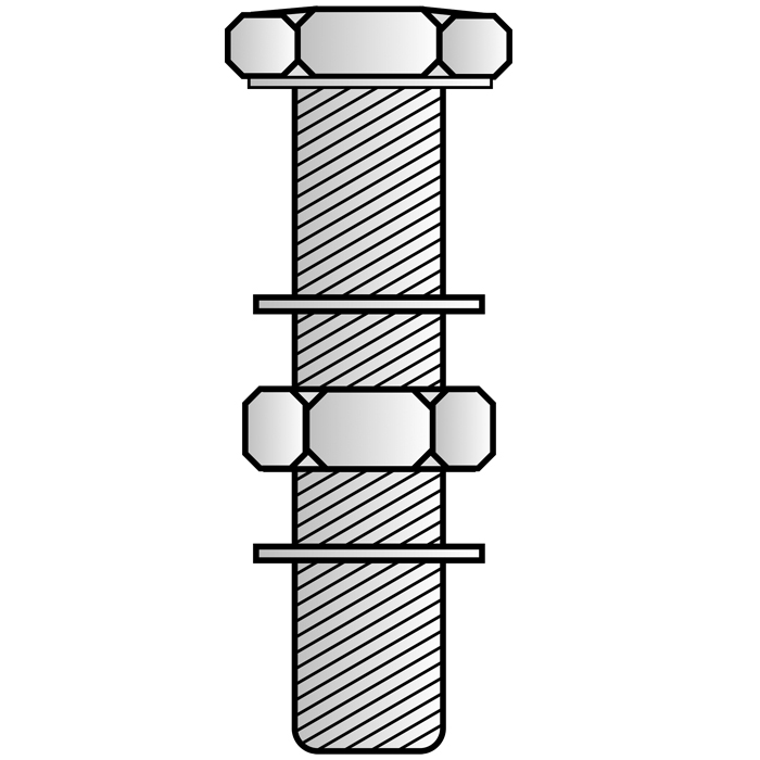 Nut And Bolt Drawing
