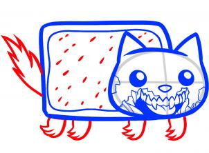 302x222 Draw Zombie Nyan Cat, Zombie Nyan Cat, Step