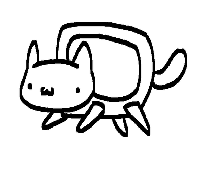 400x334 Nyan Cat Lineart