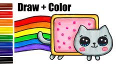 236x132 How To Draw + Color Nyan Cat Step