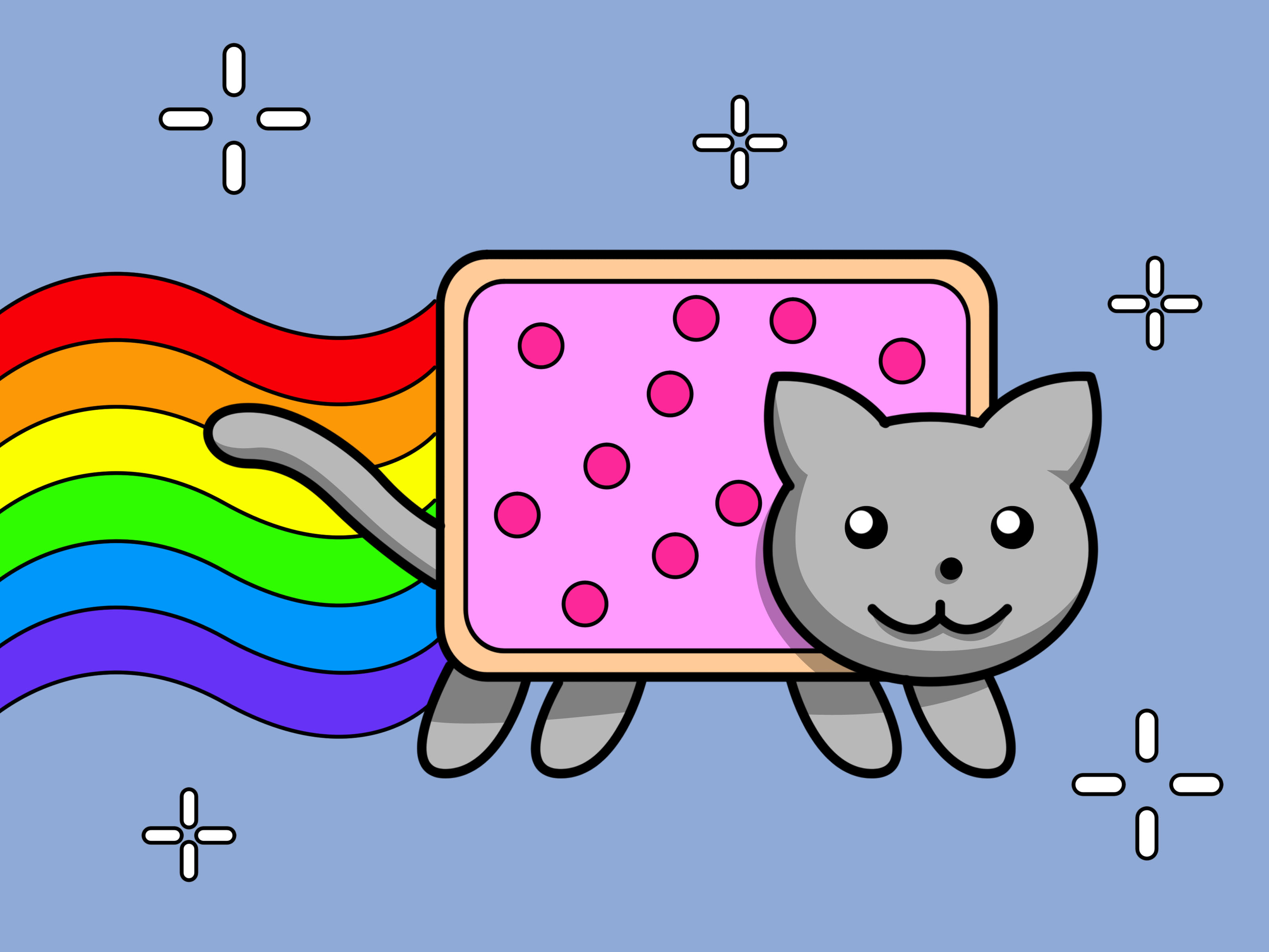 3200x2400 How To Draw Nyan Cat Steps