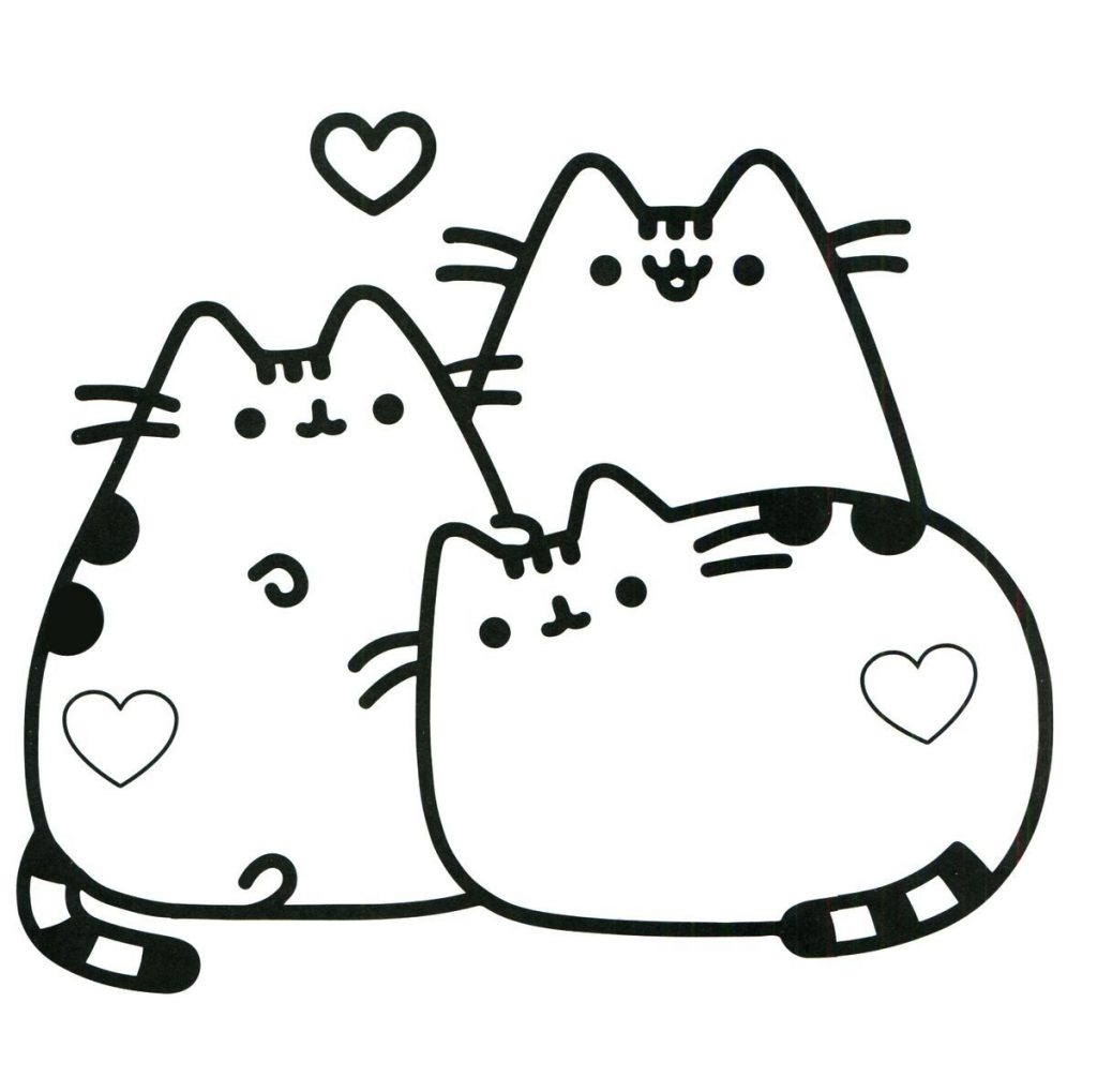 1024x1019 Pusheen Lineart Nyan Cat For Free Download
