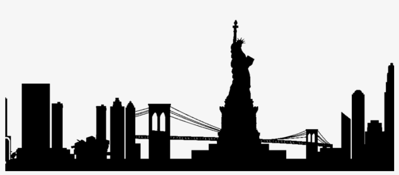 820x360 Huge Collection Of 'manhattan Skyline Silhouette' Download More
