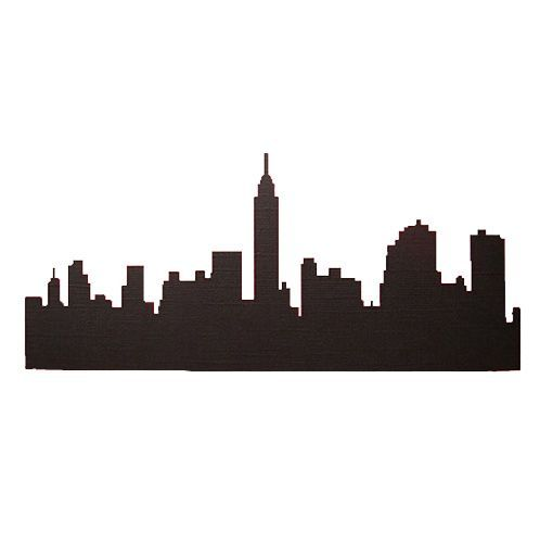 498x500 New York City Silhouettecutouts For Side Wallsback Lit