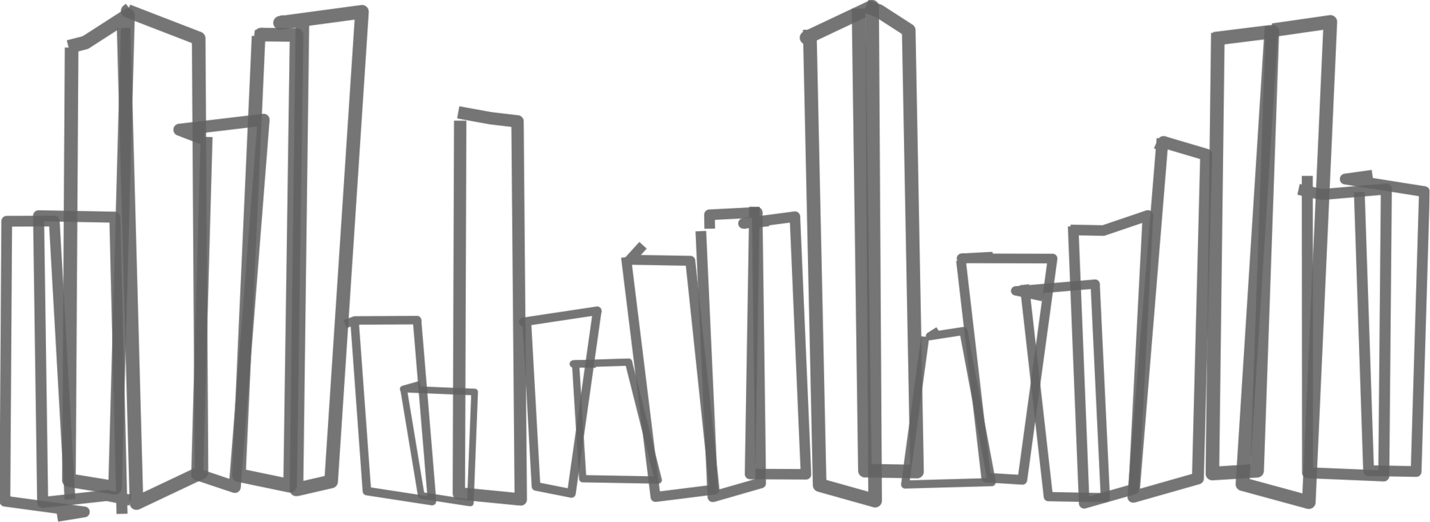 2053x750 Autistic Drawing Skyline New York Transparent Png Clipart Free