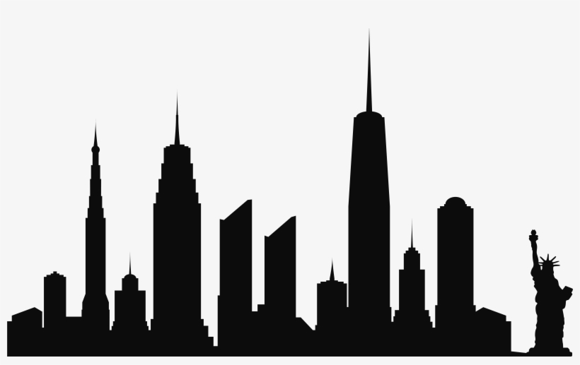 820x517 Silhouettes Of New York City Skyline Transparent Png